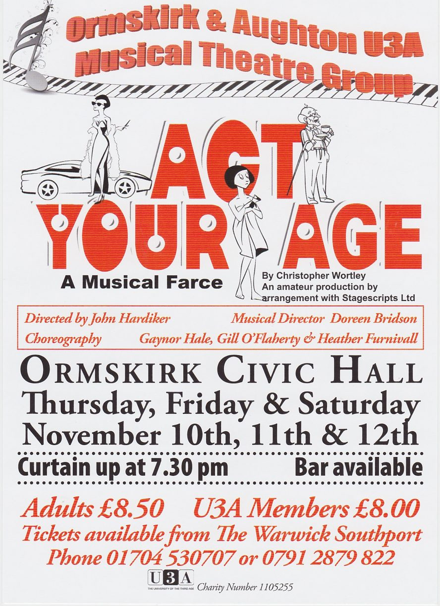 musical theatre poster - Act Your Age