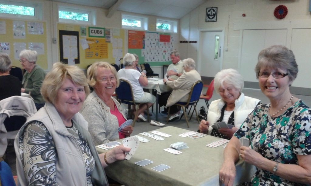 A happy group of canasta players