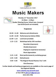Music Makers Workshop @ Quaker Meeting House | England | United Kingdom