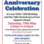 Our U3A Anniversaries in 2018 @ Christ Church Ministry Centre