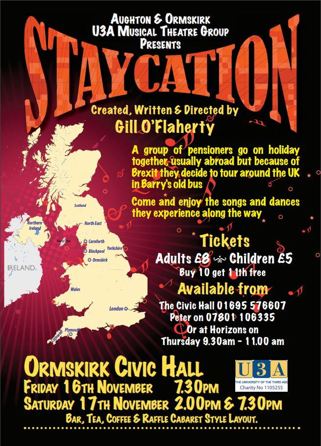 Musical Theatre 'Staycation' @ Civic Hall