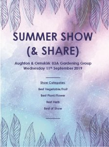 Gardening Group Summer Show @ St Michael's Church Hall
