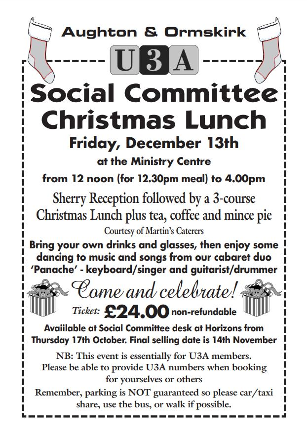 Christmas Lunch Advance Notice @ Christ Church Ministry Centre